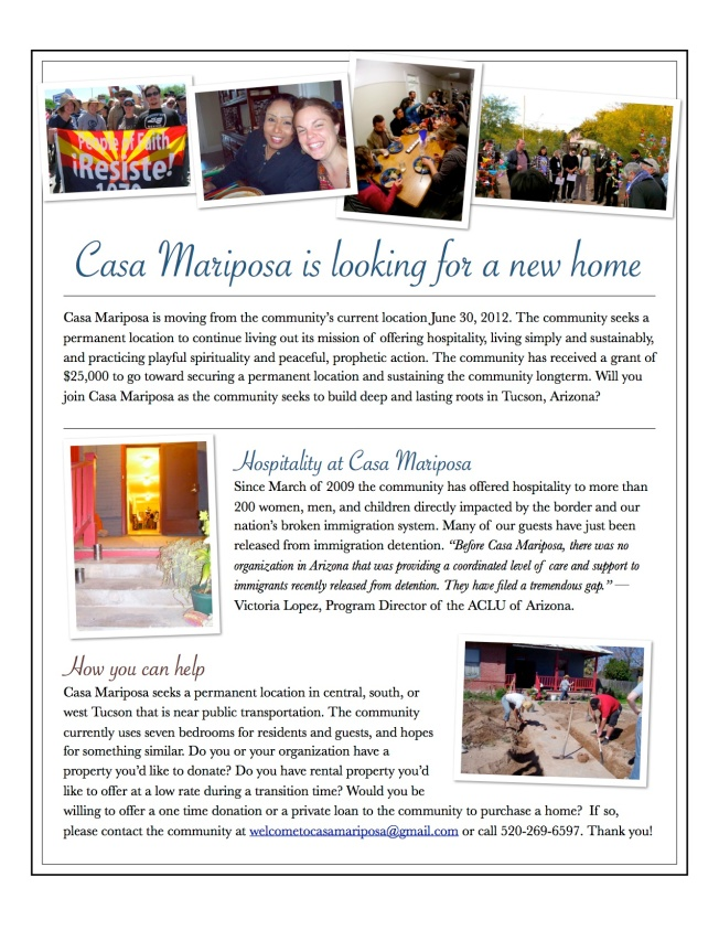 Casa Mariposa is Moving